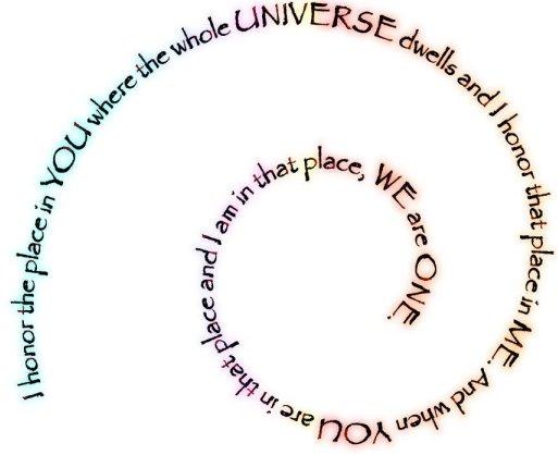 Namaste saying