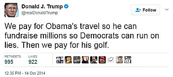 Tweet golf