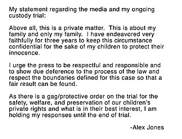 Jones statement