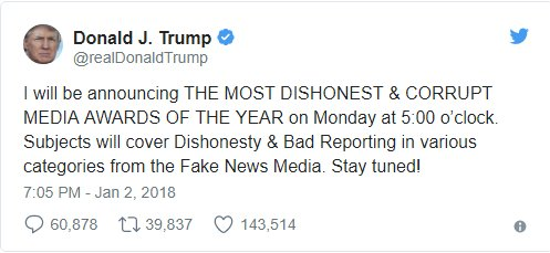 Fake news awards