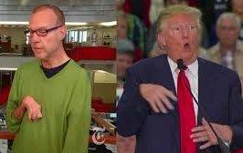 Trump mock reporter