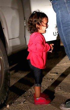 Child crying at border