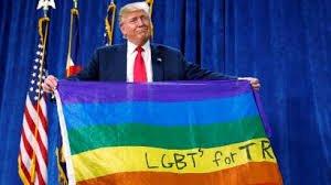 Trump lgbt flag