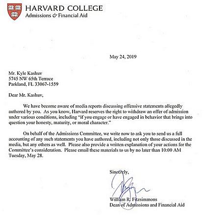 Harvard letter 1