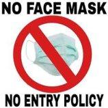 No face mask