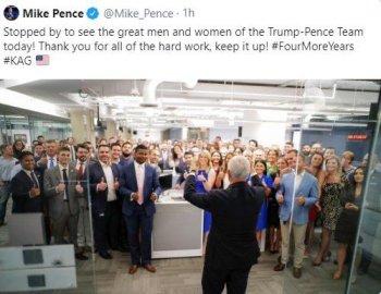 Pence crowd