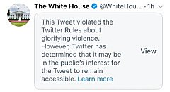 White house tweet