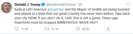 Trump tweet seattle